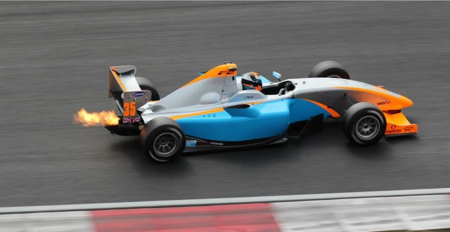 Hector Hurst in his F2 car - Photo courtesy of Oliver Phillips